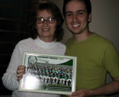 Débora Bellentani e seu filho Felipe