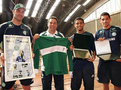 Homenagem- Jogadores do Palmeiras