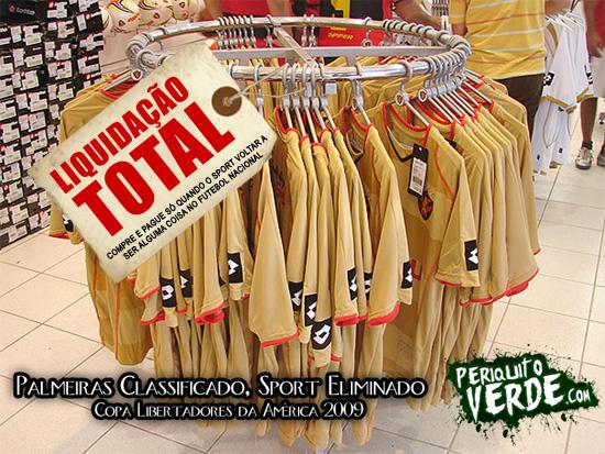 Liquidação de Camisas do Sport. Aproveite!