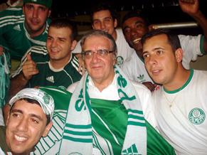Presidente Belluzzo - junto com os torcedores do Palmeiras na Ilha do Retiro