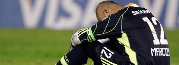 Goleiro Marcos Lamenta derrota Contra o Nacional do Uruguai