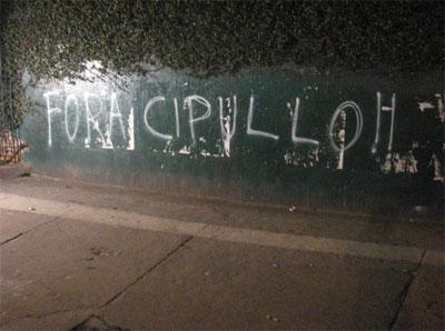 "Pichaçã Palestra Itália - ""Fora Cipullo"""