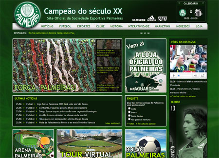 Site Oficial do Palmeiras