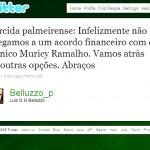 Presidente Belluzzo informa pelo Twitter que desistiu de contratar Muricy Ramalho