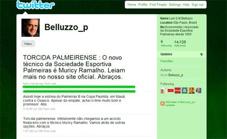 Presidente do Palmeiras - Luiz Gonzaga Belluzzo - Confirma o Muricy