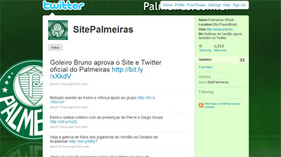 Twitter - Site Oficial do Palmeiras