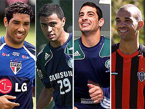 André Dias, Cleiton Xavier, Diego Souza e Diego Tardelli já treinam nesta terça-feira