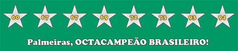PALMEIRAS, OCTACAMPEÃO BRASILEIRO - CBF Oficiliza títulos do Palmeiras