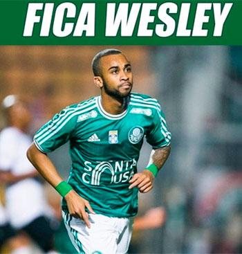 Torcedores do Palmeiras criam site pedindo para Wesley ficar