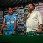 Palmeiras apresenta o novo técnico Cuca para o elenco 2016
