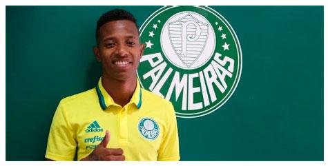 O meia Tchê Tchê assina contrato por 3 anos com Palmeiras