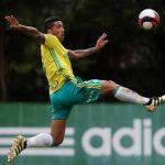 Lucas Barrios volta aos treinos no time do Palmeiras