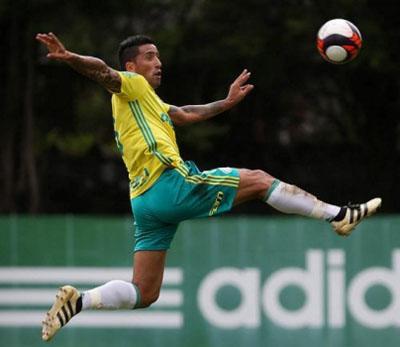 Lucas Barrios volta aos treinos