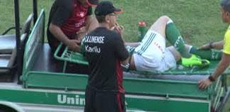 Moíses se lesiona e pode ficar até 6 meses afastado do Palmeiras